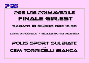PGS PRIMAVERILE U16 FINALE EST
